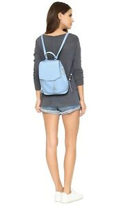 RAG AND & BONE PILOT MINI LEATHER BACKPACK BAG PURSE LIGHT BLUE NEW