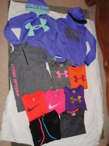 Girls X-Large 18 XL Nike Under Armour Hoodie Shorts T-Shirts Tops Outfit Lot