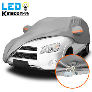 Full SUV Car Cover WLock Blue Waterproof Breathable Sun UV Rain Dust Resistant