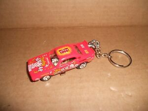 1971 DODGE CHALLENGER RACE CAR DIECAST NEW YEARS KEYCHAIN KEYRING NEW RED