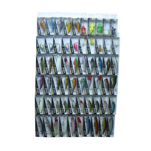 60pcs Hard Fishing Lures Minnow Shad Popper VIB Frog Mouse Crank Bait Tackle