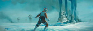 ACME ARCHIVES STAR WARS GICLEE ON CANVAS BY ROB KAZ quot;SINGLE HANDEDquot; LUKE AT AT $249.99