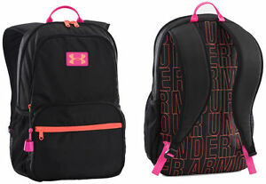 Under Armour Girls Great Escape Backpack Black & Pink  1260542-001 NWT $45