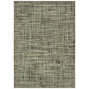 Sphinx Grey Crosshatch Weave Lines Banded Contemporary Area Rug Geometric 5503E
