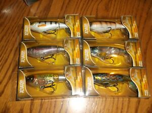RIVER 2 SEA WHOPPER PLOPPER 90-LOT OF 6 DIFFERENT COLORED FISHING LURES