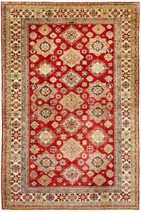 East Afghan Kazak Rug 120 18x87 1316in Red Hand Knotted Wool Carpet
