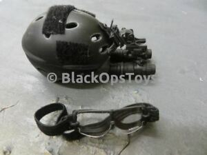 16 Scale Hot Toys US Navy SEAL Team 4 NSW Unit Helmet W NVG & Goggles
