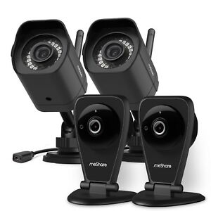 meShare 1080p HD Wireless Security Camera System IndoorOutdoor Cloud Recording