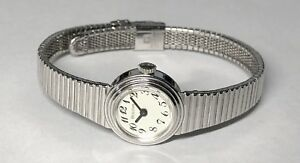 Vintage 1975 Ladies Bulova 17 Jewel Mechanical Movt Watch wKestenmade Bracelet