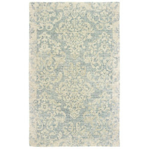 Sphinx Blue Petals Bulbs Garlands Crosshatch Contemporary Area Rug Floral 55604