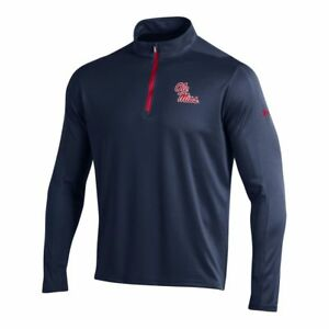 Ole Miss Rebels Under Armour Midnight Navy Golf Loose 14 Zip LS Pullover