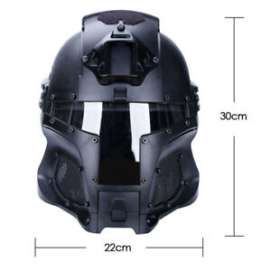 WoSporT Full-covered Tactical Protective Gear CS Helmet Mask Goggle Outdoor Army