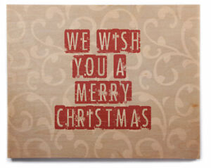 East Urban Home 'We Wish You a Merry Christmas' Graphic Art Print on Wood