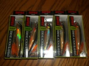 RAPALA X-RAP-10's--lot of 5 GOLD COLORED-FISHING LURES-XR10