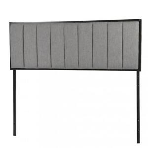 Headboard Fabric Upholstered Modern Queen Size With Linen Tufted Heavy Duty