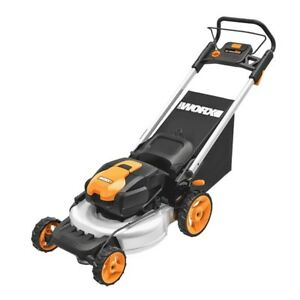 WORX WG774 56V 19quot; Cordless Electric Lawn Mower with Intellicut amp; Mulch Plug $299.99