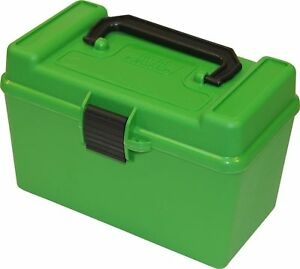 MTM H50-RL Deluxe 50-Round Rifle Ammo Case Box 30-06 270 Win 25-06 Green H50RL10