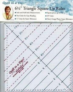 6 1 2quot; Triangle Square Up Ruler Quilt in a Day # 2010QD $13.45