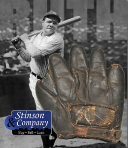 Babe Ruth Personally Owned 1910-20 Spalding Baseball Glove w COA ~ Free Ship