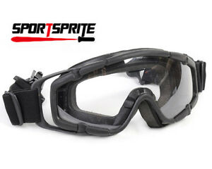 Paintbal Tactical Ballistic Goggle Glasses 2 Lens for Helmet Protective Gear