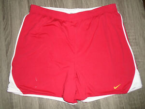 Nike Sports Gear Mens Athletic Reversible Red & White Running Workout Shorts