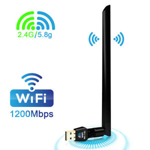 1200Mbps Dual Band 2.45Ghz USB WiFi Adapter Dongle Wireless Network w  Antenna