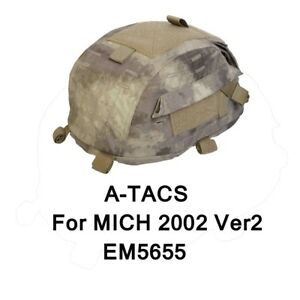 Military Airsoft Emerson Tactical Hunting Helmet Camo Cover for MICH 2002 Ver2