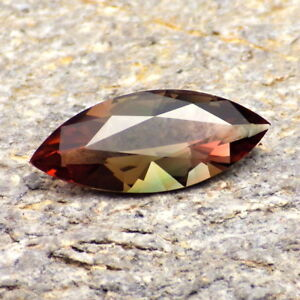 RED ORANGE-GREEN-PEACH MULTICOLOR OREGON SUNSTONE 2.76Ct FLAWLESS-RARE COLOR!!