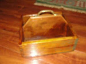 Kleanbore wood box ammunition box with handle old dovetailing handmade