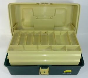 Plano 6800 Series Fishing Tackle Box 3 Tray Bait Storage Carrying Case