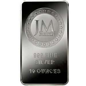 10 oz JM Bullion Silver Bar (Reverse Proof-Like, New)