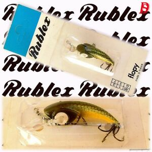 Vintage Rublex Softlure Flopy 3gr GY New on Card extremely rare