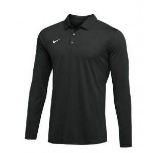 New With Tags Mens Nike Long Long Sleeve Athletic Gym Muscle Dri Fit Polo $36.90