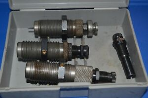 LOT #108-A RCBS 3 DIE SET (CARBIDE) .45 LC WSHELL HOLDER