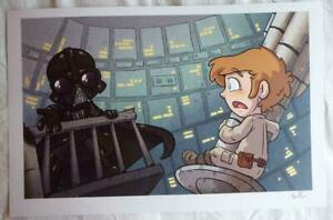 NYCC 2018 STAR WARS FRIENDS DARTH VADER Lithograph SIGNED KATIE COOK