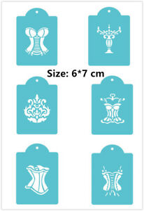 6 Pcs Pack Girl Clothes Cookie Cake Stencil Decorate Mould Fondant Biscuit Tool