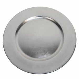 Luxurious Silver Round Charger Dinner Plates 13 inch Set of 1246 or 12 -...