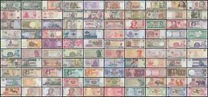 World Currency Uncirculated Banknote Set Lot of 100 $32.69