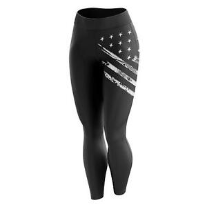 Tactical Pro Supply American Flag Womens Gym Leggings