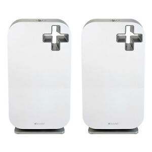 Brondell O2+ Source True HEPA Odor Allergen Remover Air Purifier System (2 Pack)