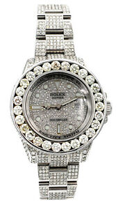 Rolex Mens Deepsea Stainless Steel Iced Out 20ct of Bling - Box