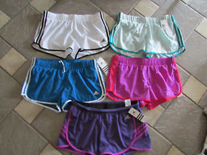 NEW LOT 5 ADIDAS RUNNING SHORTS ATHLETIC SHORTS WOMENS L MULTICOLOR LOT W BRIEF