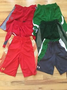 Under Armour variouse sizes Boys youth shorts collection of 18 pairs of shorts