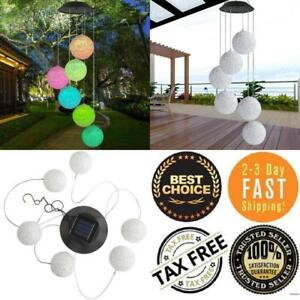 Solar Power Wind Chime Light LED Garden Hanging Spinner Lamps Color Changing NEW