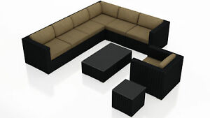 Orren Ellis Azariah 9 Piece Sectional Set with Cushions