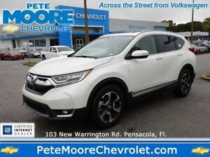 2017 Honda CR-V Touring 2017 Honda CR-V Touring White Diamond Pearl SUV 1.5L 4-Cyl Engine Automatic