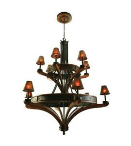 Kalco 5832NI Aspen 12 Light 2 Tier Chandelier
