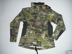 UNDER ARMOUR Coldgear Forest CAMO 12 Zip Hunting Shirt Womens LARGE Rt $109 NEW