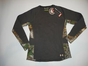 UNDER ARMOUR Wool Blend EXTREME BASE Realtree Camo Hunting SHIRT Womens XL NEW