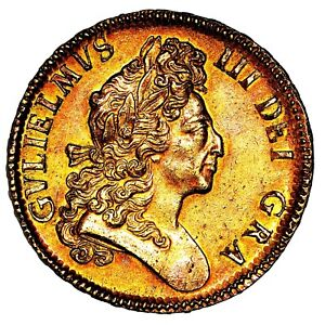 1699 King William III Great Britain Gold Five 5 Guineas Coin